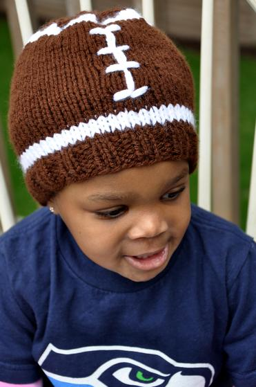 Knitting Or Crocheting Faster : Faster football hat knitting patterns and crochet