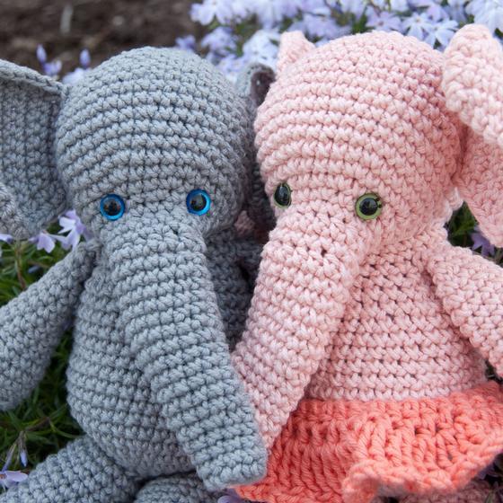 Knit Amigurumi Elephant : Morris & Matilda Amigurumi Crochet Elephants - Knitting ...