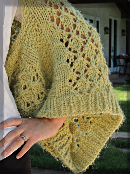 Kimono Lace Shrug - Knitting Patterns and Crochet Patterns from KnitPicks.com