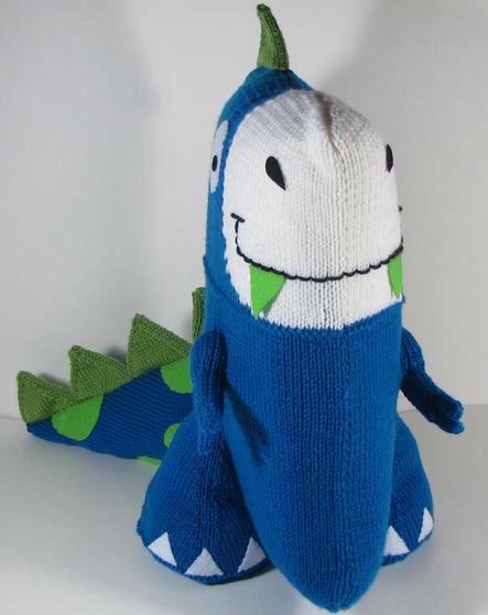 Dinosaur Pillow - Knitting Patterns and Crochet Patterns from KnitPicks.com
