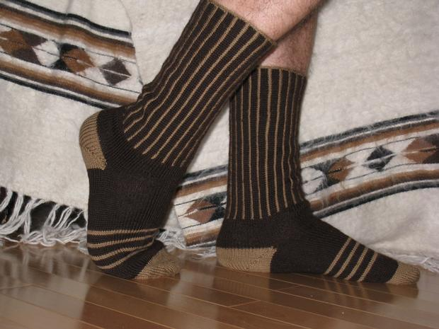 Stripes and Spaces Socks - Knitting Patterns