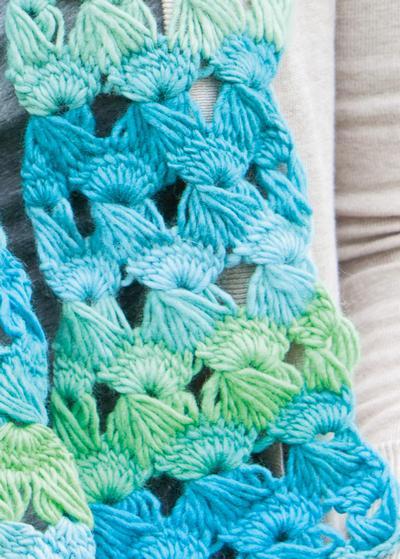 Knit Pattern Broomstick Lace : Splash Fest Broomstick Lace Scarf - Knitting Patterns and Crochet Patterns fr...