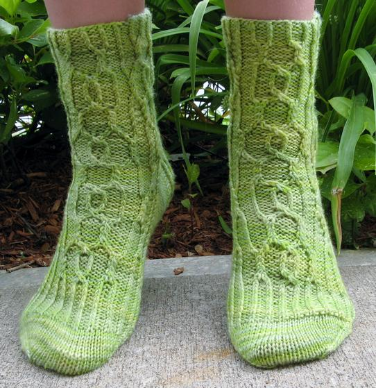 Cable Knit Sock Pattern : Canobie Cable Socks - Knitting Patterns and Crochet Patterns from KnitPicks.com