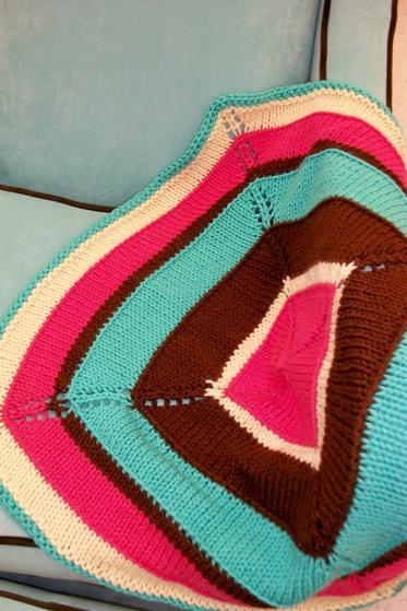 Knit Picky Patterns Baby Blankets : Happy Place Baby Blanket - Knitting Patterns and Crochet Patterns from KnitPi...