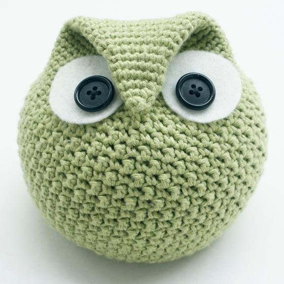 Free Crochet Large Owl Pattern : Crochet Chubby Owl Family - Knitting Patterns and Crochet ...