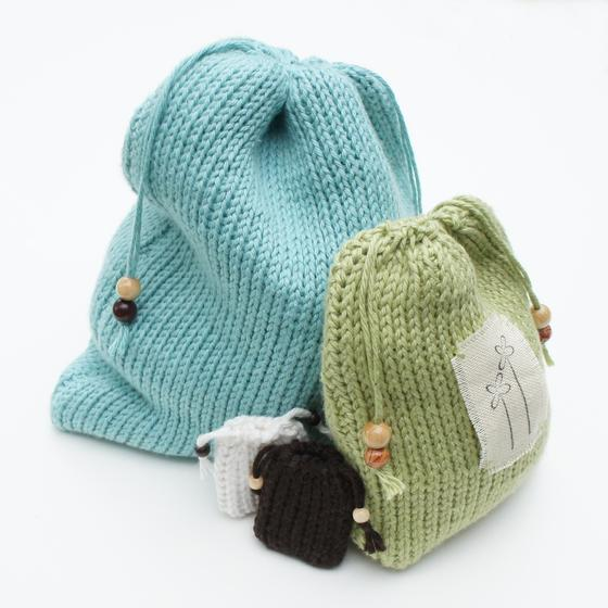 Crochet Drawstring Pouch Pattern : Drawstring Gift Bags - Tunisian Crochet Pattern - Knitting ...