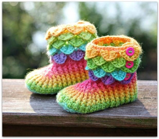 Size Crocodile Stitch Crochet Boots - Knitting Patterns and Crochet ...