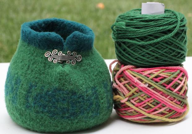 Large & Small Slip Stitch Yarn Bowls & Accessory Pouch - Knitting Pat...