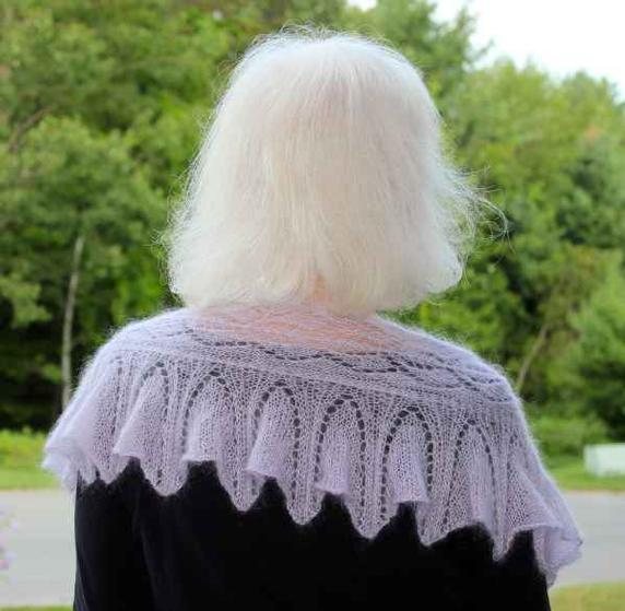 Crochet Pattern Lace Ruffle Scarf : Wild Orchid Ruffled Lace Scarf - Knitting Patterns and ...