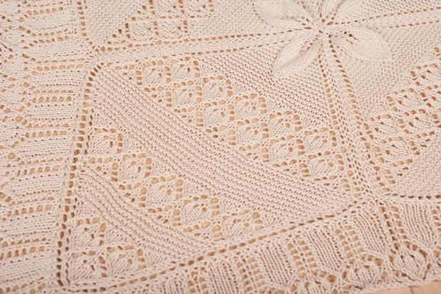 Crochet Patterns Christening Blanket : Baby Counterpane Christening Blanket - Knitting Patterns ...
