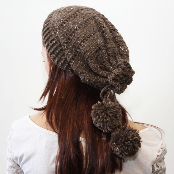 Drawstring Crochet Slouch Hat - Knitting Patterns and ...