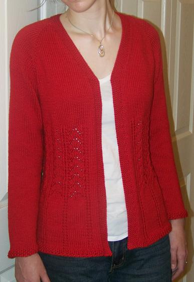 Knitting Patterns For Plus Size Sweaters : Really Fits Top Down Cardigan For All Seasons - Knitting ...