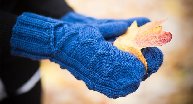 Dinosaur Scale Mitten - Knitting Patterns and Crochet Patterns from KnitPicks...