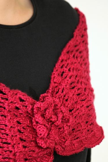 Crochet Corsage Infinity Scarf or Shoulder Wrap - Knitting Patterns and Croch...