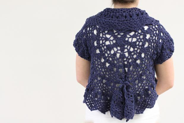 Free Crochet Circular Bolero Patterns : Forget-Me-Not Circle Crochet Shrug - Knitting Patterns and ...
