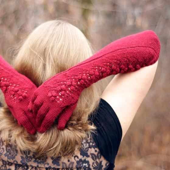 Merlot Opera Gloves - Knitting Patterns and Crochet Patterns from KnitPicks.com