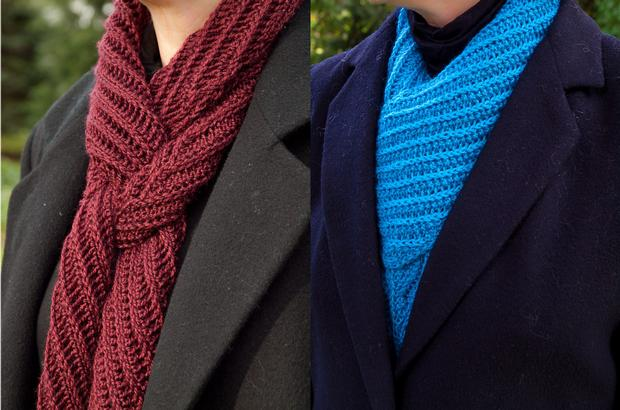Bias Rib Scarf - Knitting Patterns and Crochet Patterns from KnitPicks.com