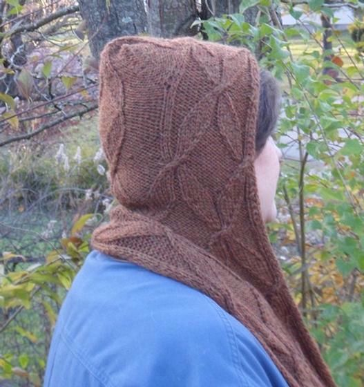 Knitting Pattern Of The Day : Blustery Day Hooded Scarf - Knitting Patterns and Crochet ...