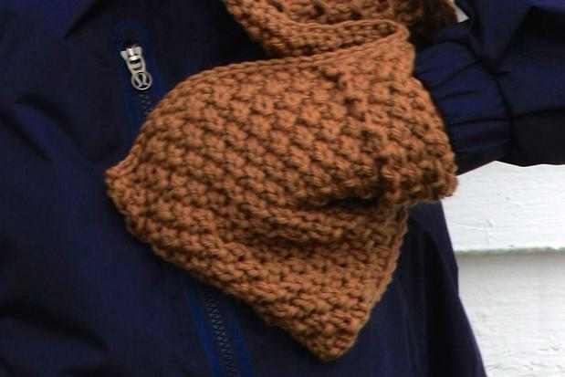 Knitted Pocket Scarf Pattern : Pocket Scarf and Brim Hat - Knitting Patterns and Crochet ...