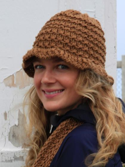Knit Hat Pattern Free Brim : Pocket Scarf and Brim Hat - Knitting Patterns and Crochet ...