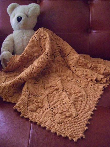 Knit Picky Patterns Baby Blankets : Chickpea Baby Blanket - Knitting Patterns and Crochet Patterns from KnitPicks...