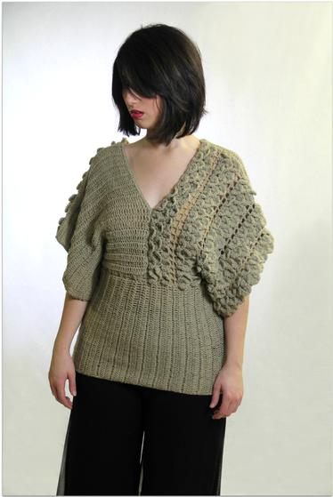 Free Crochet Pattern For Kimono : Crocodile Stitch Kimono Crochet Top - Knitting Patterns ...
