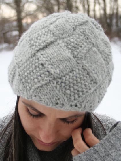 Crochet Hat Patterns For Winter : Entrelac Winter Hat - Knitting Patterns and Crochet ...