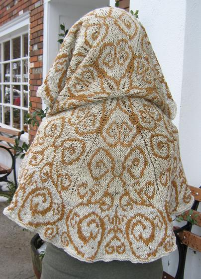 Stranded Knitting Patterns : My Bliss Stranded Shawl - Knitting Patterns and Crochet Patterns from KnitPic...