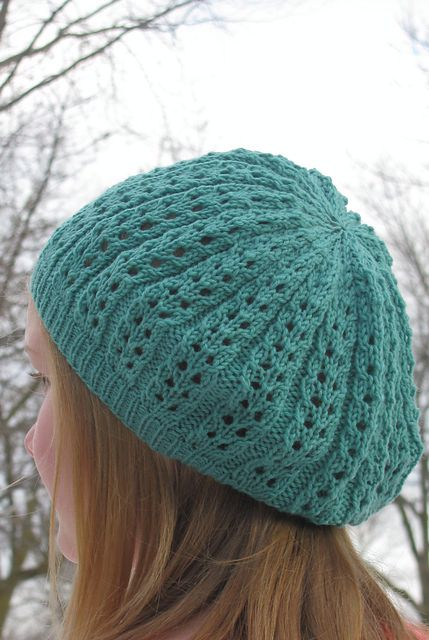 Sweet & Simple Lace Hat Pattern - Knitting Patterns and Crochet Patterns ...