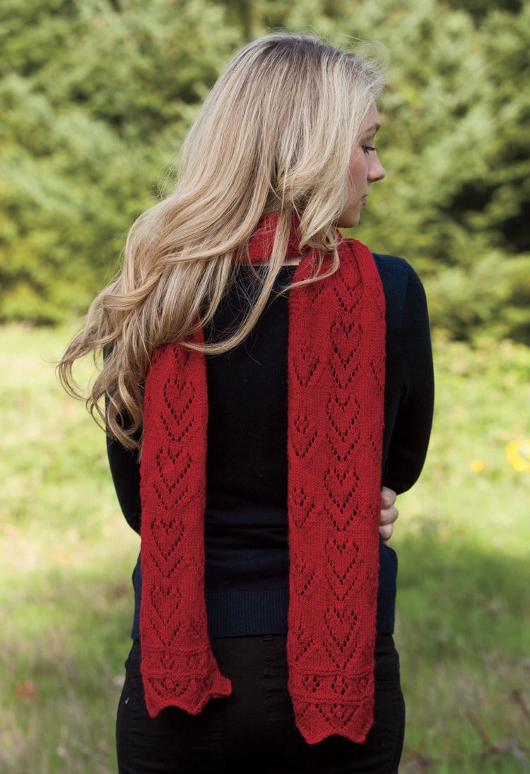 Sweetheart Valentine Scarf Pattern - Knitting Patterns and ...