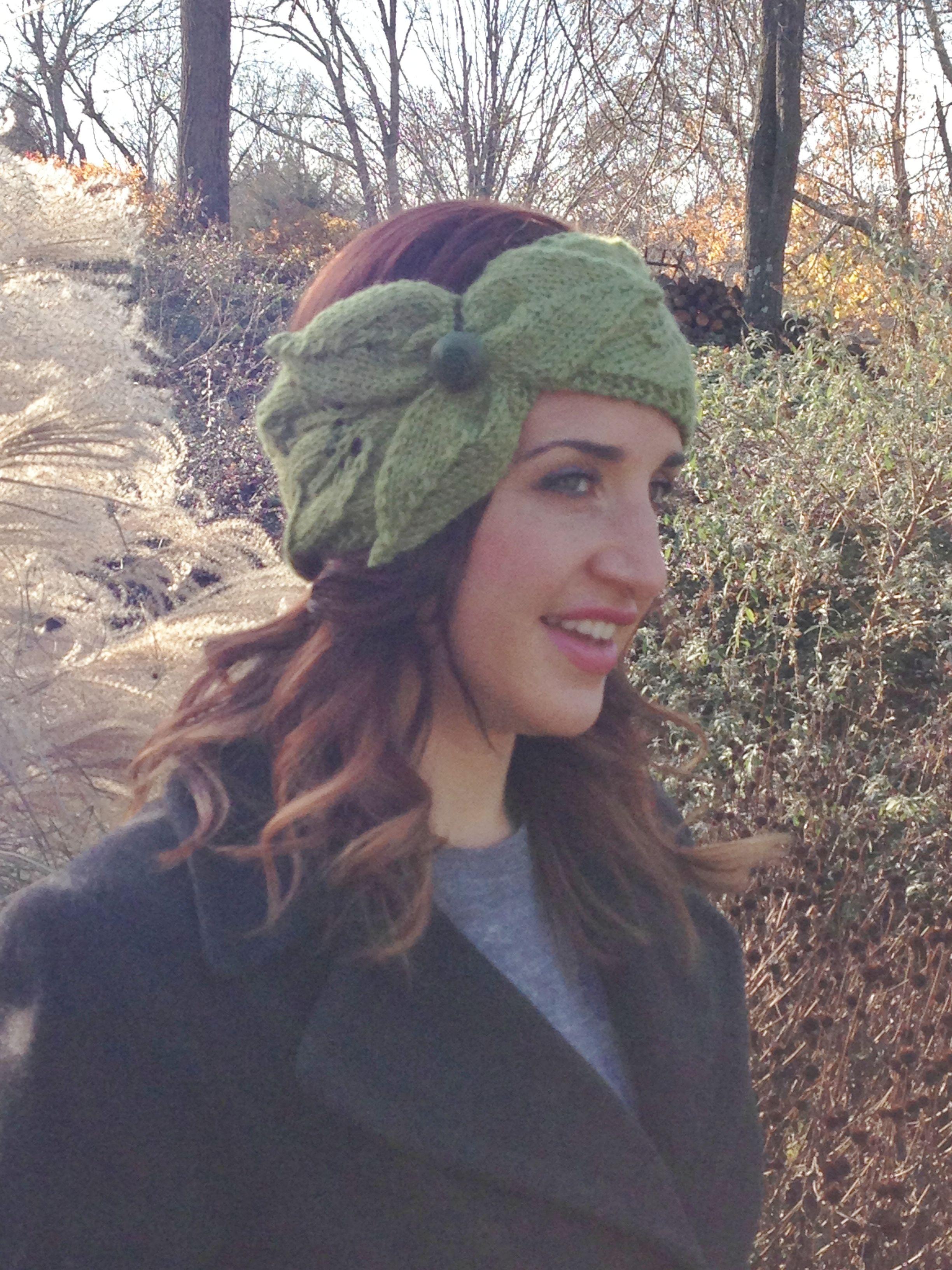 Lacy Leaf Headband Pattern - Knitting Patterns and Crochet Patterns from Knit...
