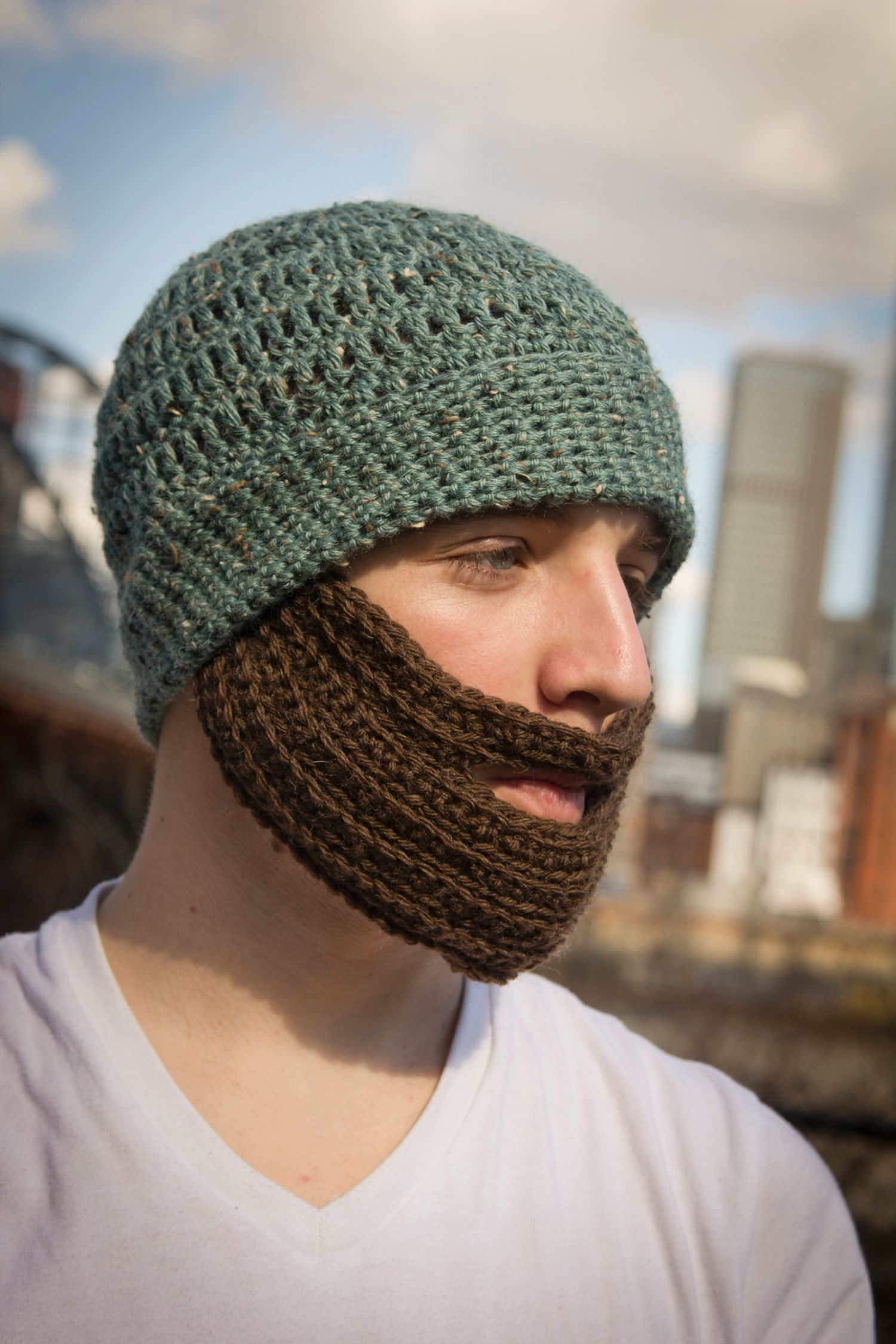 Knitting Patterns By Needle Size : Crochet Bearded Hat - Knitting Patterns and Crochet Patterns from KnitPicks.com