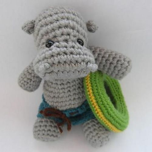 Crochet Pattern Free Hippo : Hippo the Swimmer Crochet Pattern - Knitting Patterns and ...