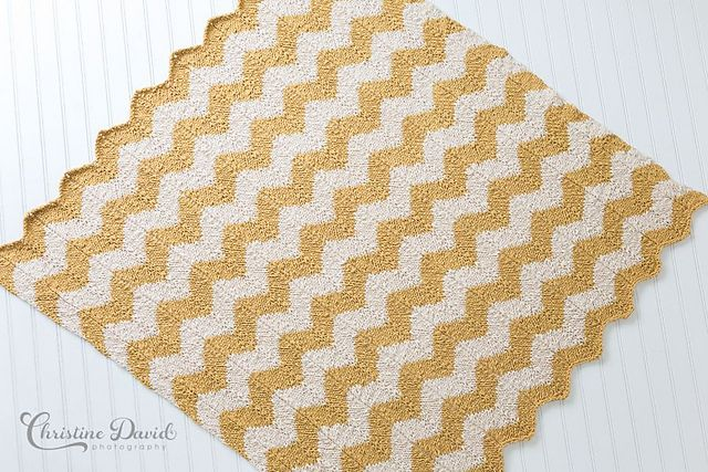 Chevron Baby Blanket Pattern - Knitting Patterns and Crochet Patterns from Kn...