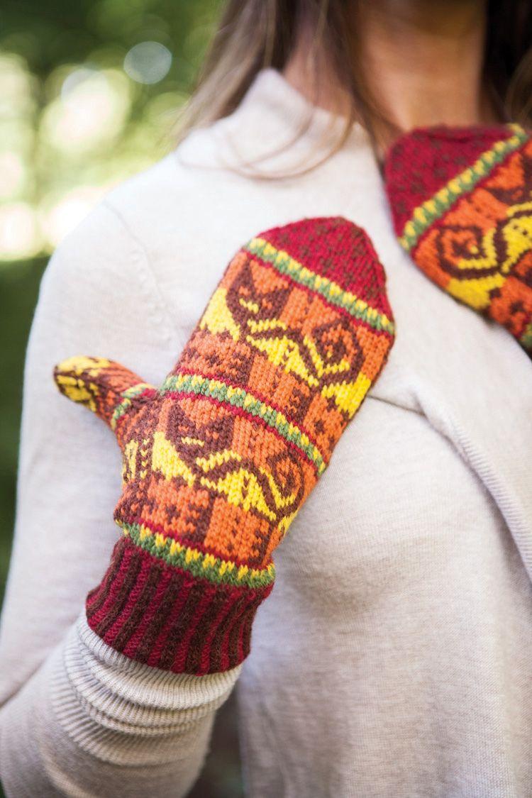 Inca Knitting Patterns : Inca Cat Mittens Pattern - Knitting Patterns and Crochet Patterns from KnitPi...