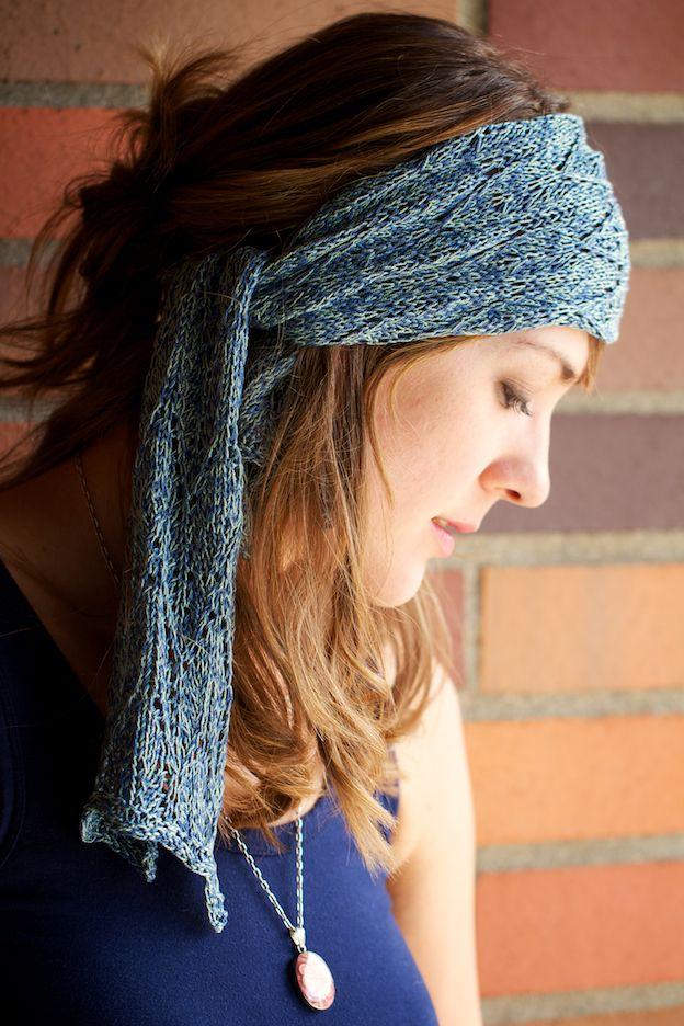 Bohemian Knitting Patterns : Azure - The Bohemian Headscarf Pattern - Knitting Patterns and Crochet Patter...