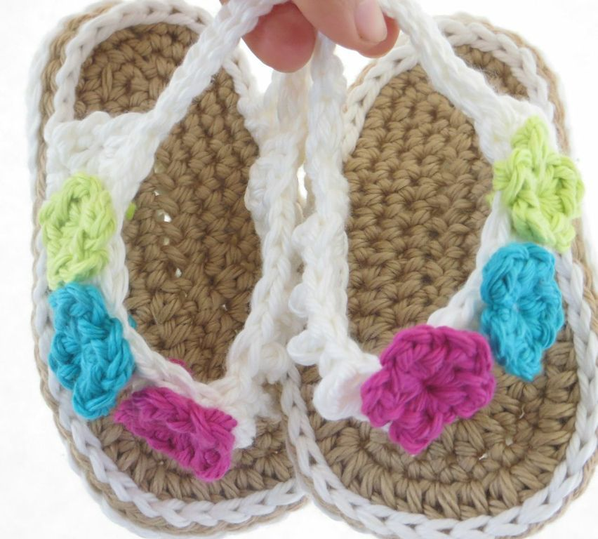 Free Crochet Pattern For Baby Flip Flop Sandals ~ Pakbit for .