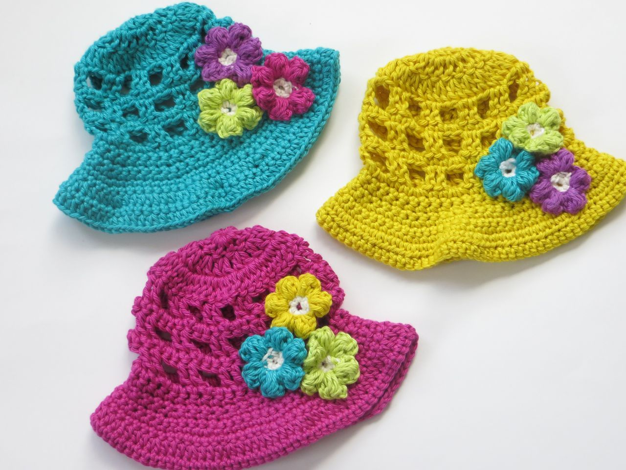 Sun Hat for Girls Crochet Pattern - Knitting Patterns and ...