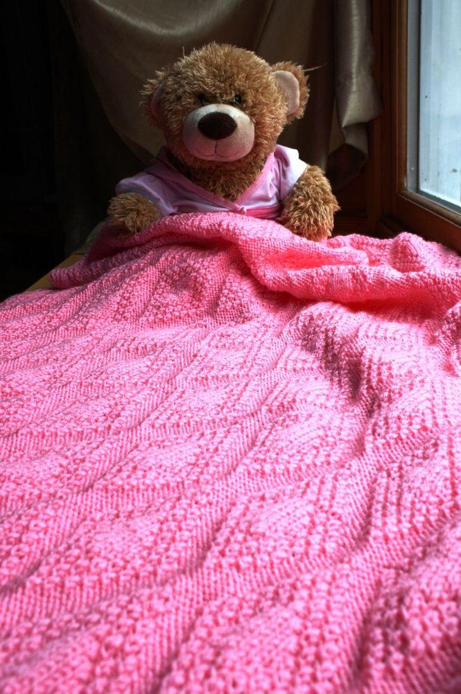Forever Diamonds Baby Blanket Pattern - Knitting Patterns ...