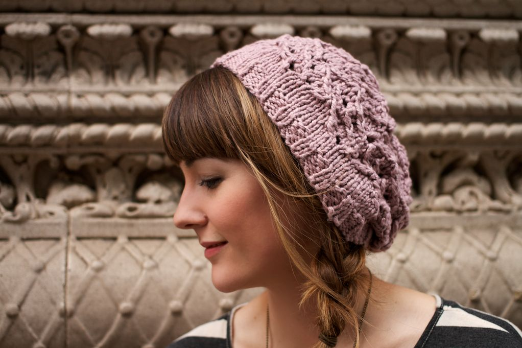 Free Crochet Pattern For Lace Beanie : Brier Lace Beanie Pattern - Knitting Patterns and Crochet ...