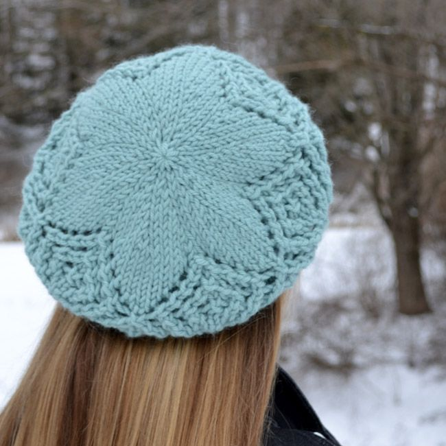Free Knitted Flowers Patterns : Frostbitten Beret Pattern - Knitting Patterns and Crochet Patterns from KnitP...