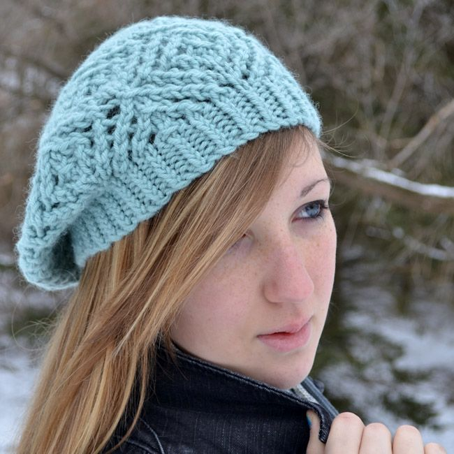 Frostbitten Beret Pattern - Knitting Patterns and Crochet Patterns from KnitP...