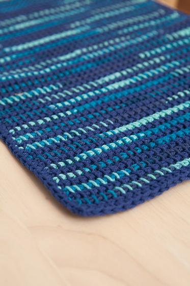Knitted Placemat Patterns : What the Heck? Home Dec! Tunsian Crochet Placemat and Coasters - Knitting Pat...