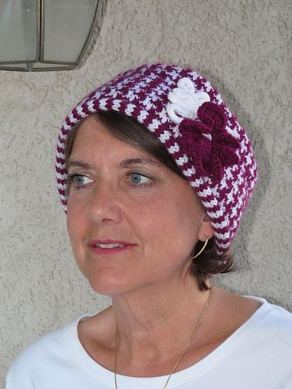 Free Crochet Pattern Houndstooth Hat : Houndstooth Hat - Knitting Patterns and Crochet Patterns ...