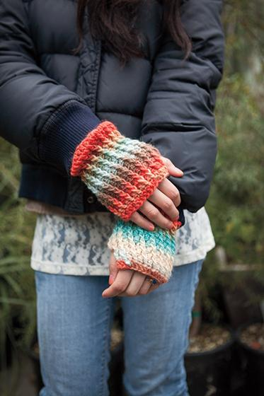 Sunset Ridge Crochet Fingerless Mitts