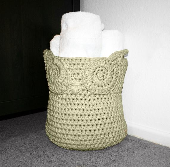 Free Crochet Patterns Owl Basket : Owl Crochet Basket - Knitting Patterns and Crochet ...
