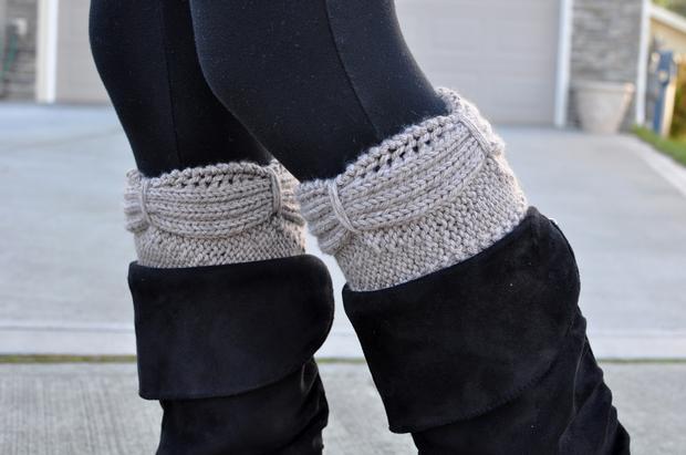 Aurora Boot Cuffs - Knitting Patterns and Crochet Patterns ...