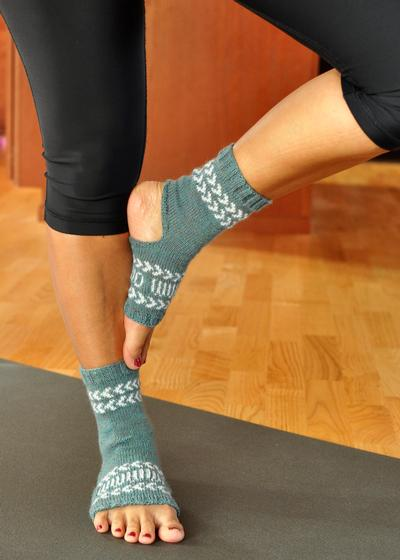 Fair Isle Yoga Socks - Knitting Patterns and Crochet Patterns from KnitPicks.com
