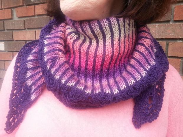 tropical sunset shawl knitting patterns and crochet