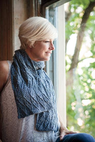 Zig Zag Lace Scarf in City Tweed Yarn from knitpicks.com